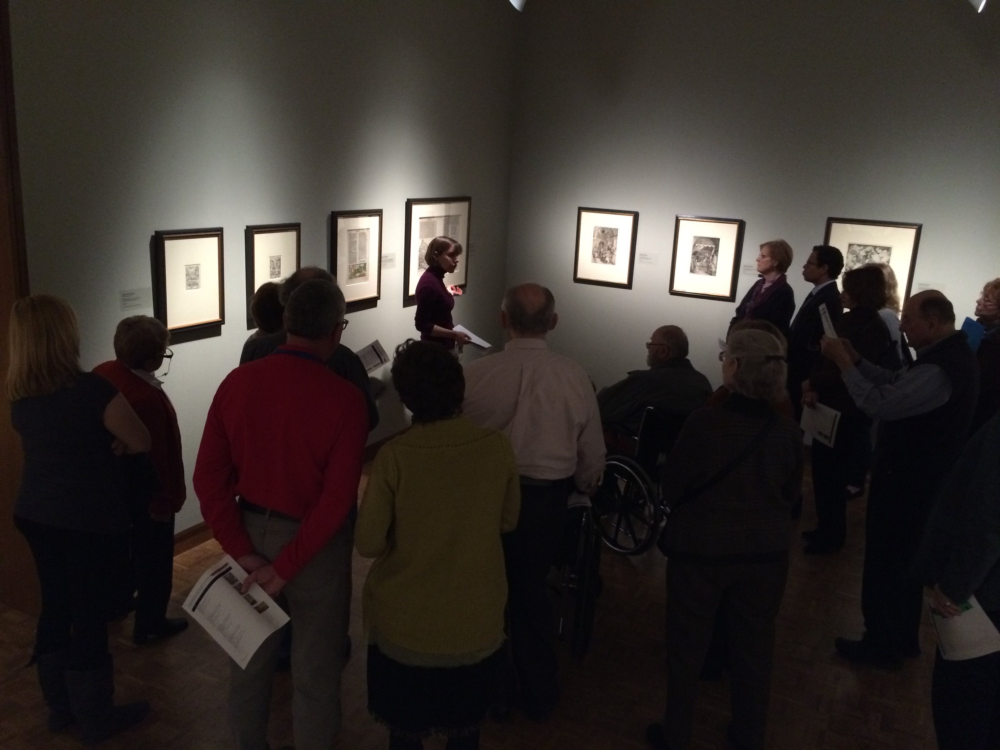 Tour of Dürer and the German Renaissance in the new European works on paper gallery. Photo credit: Tina Schinabeck