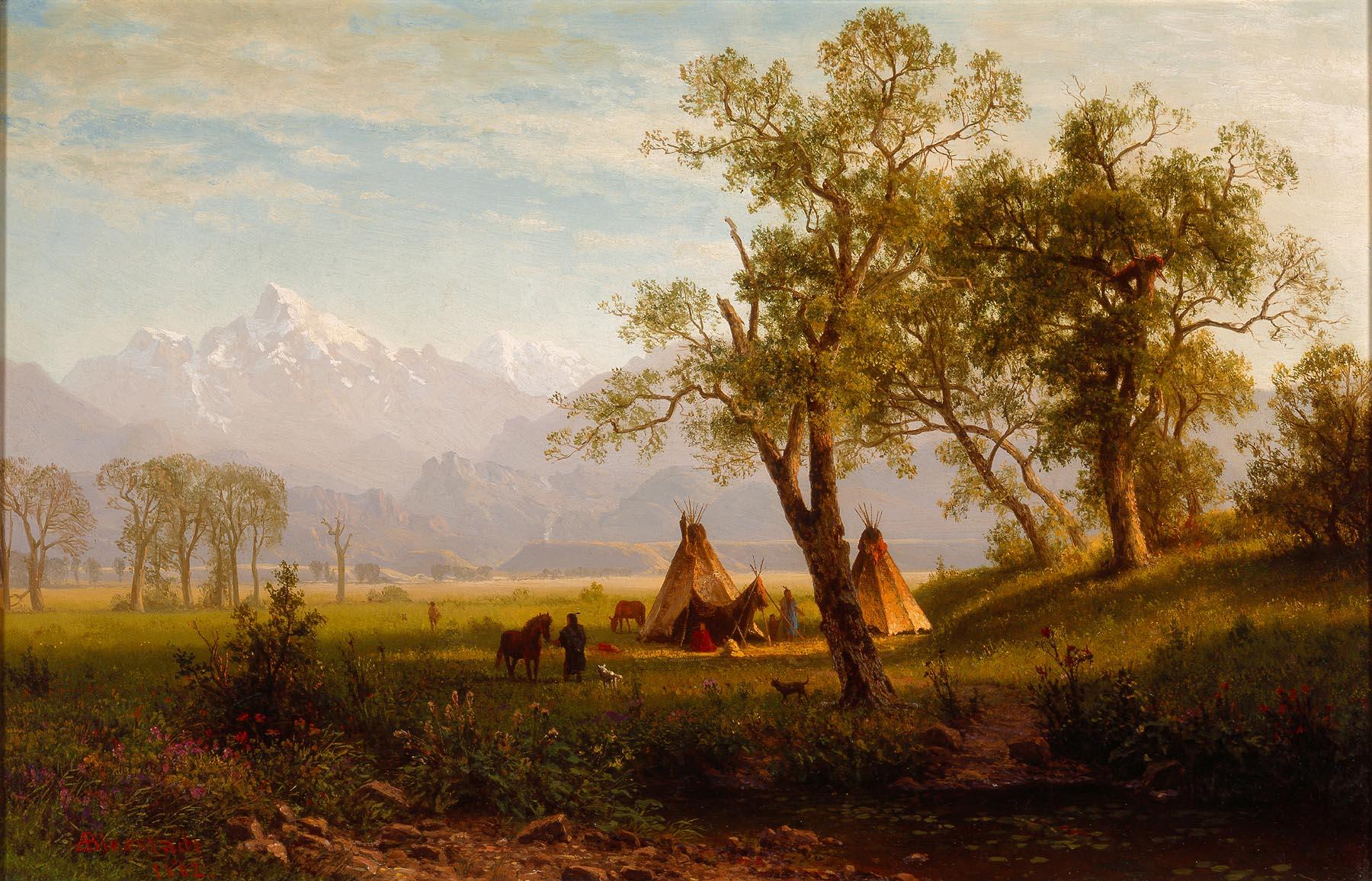 Albert Bierstadt (American, b. Germany, 1830–1902), Wind River Mountains, Nebraska Territory, 1862. Oil on board. Milwaukee Art Museum, Layton Art Collection, Inc., Purchase L1897.3. Photo credit: Larry Sanders.