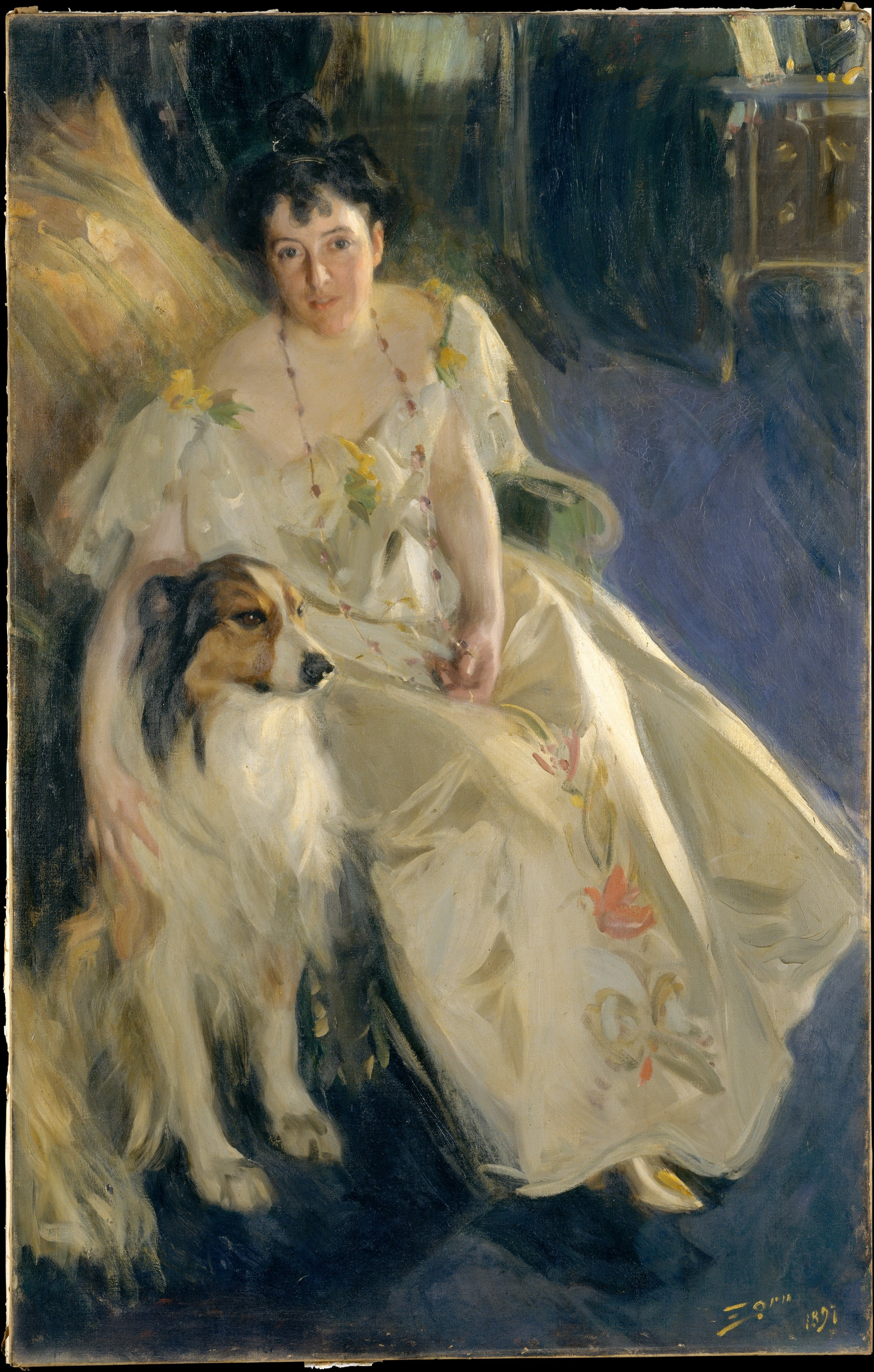 Anders Leonard Zorn (Swedish, 1860–1920), Mrs. Walter Rathbone Bacon (Virginia Purdy Barker, 1862–1919), 1897. Oil on canvas. The Metropolitan Museum of Art, Gift of Mrs. Walter Rathbone Bacon, in memory of her husband, 1917, 17.204.
