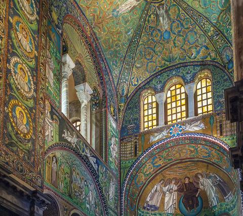 Byzantine Mosaics in the Basilica of San Vitale, Ravenna, Italy, ca. 547 A.D. © Borisb17   Dreamstime.com.