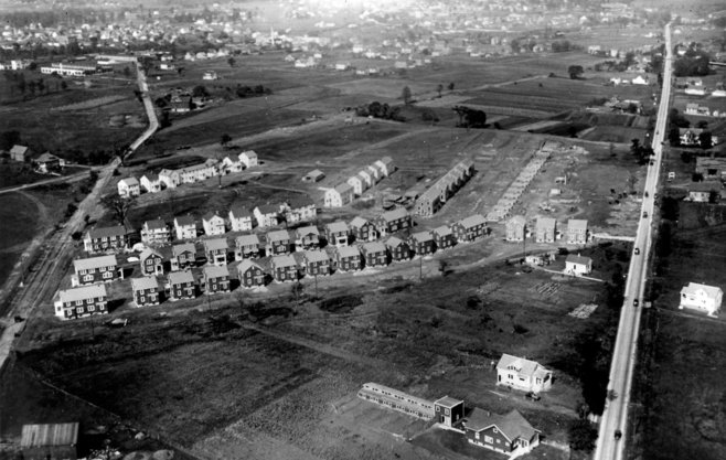 Aerial view of Garden Homes development, ca. 1923. Photo credit: Milwaukee Public Library.