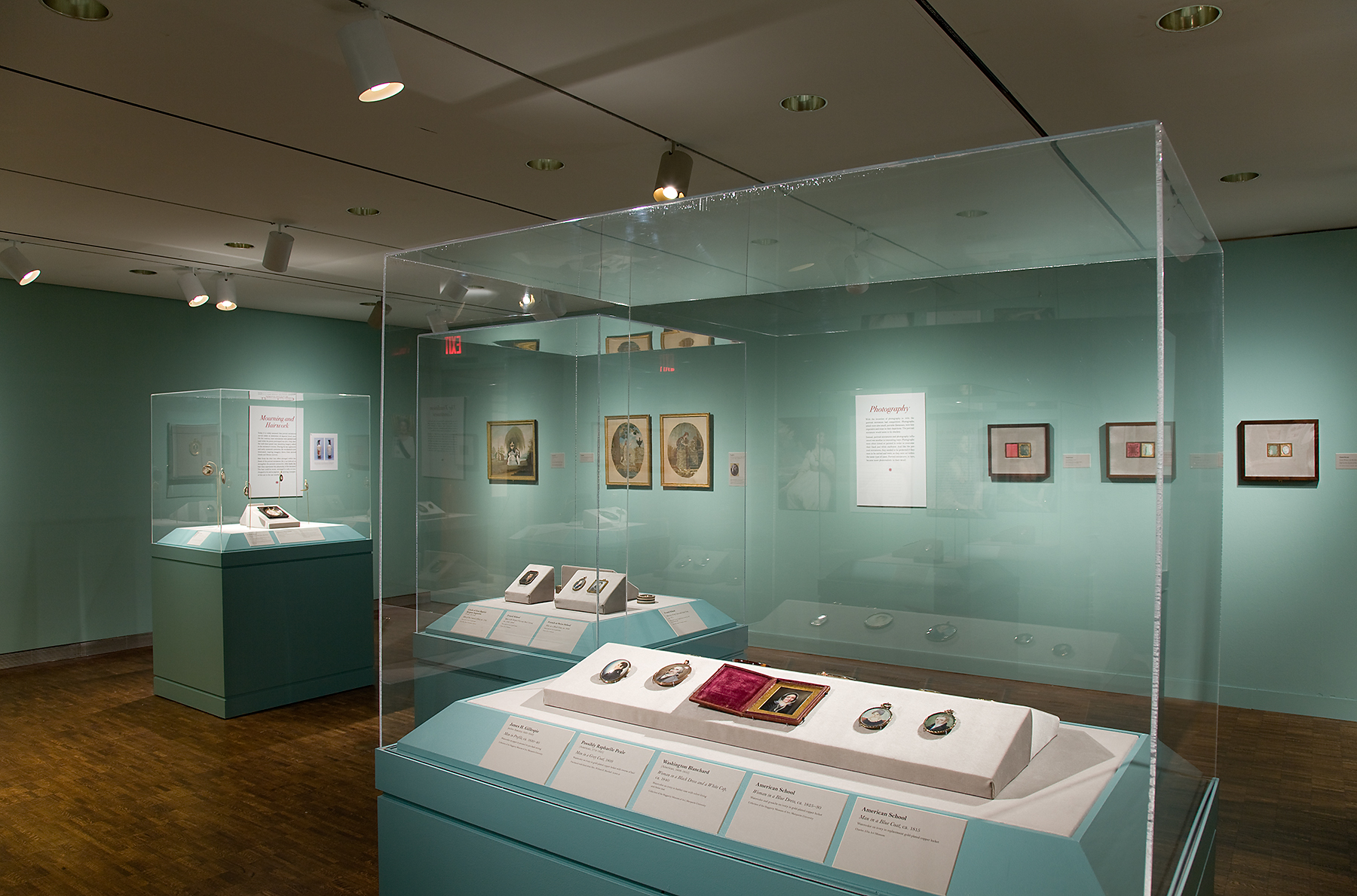 Installation view of Intimate Images of Love and Loss. Photo credit: John R. Glembin.