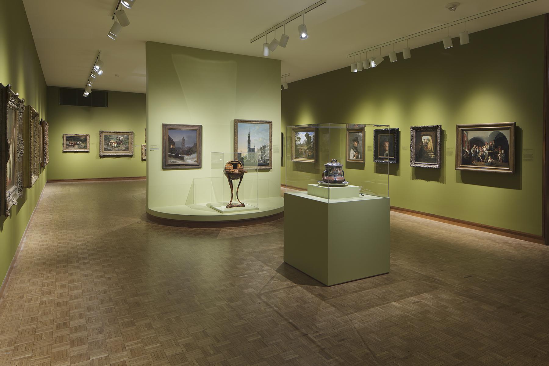 Nineteenth Century German Art Gallery with The Interruption by Ferdinand Georg Waldmüller. Photo credit: John R. Glembin.
