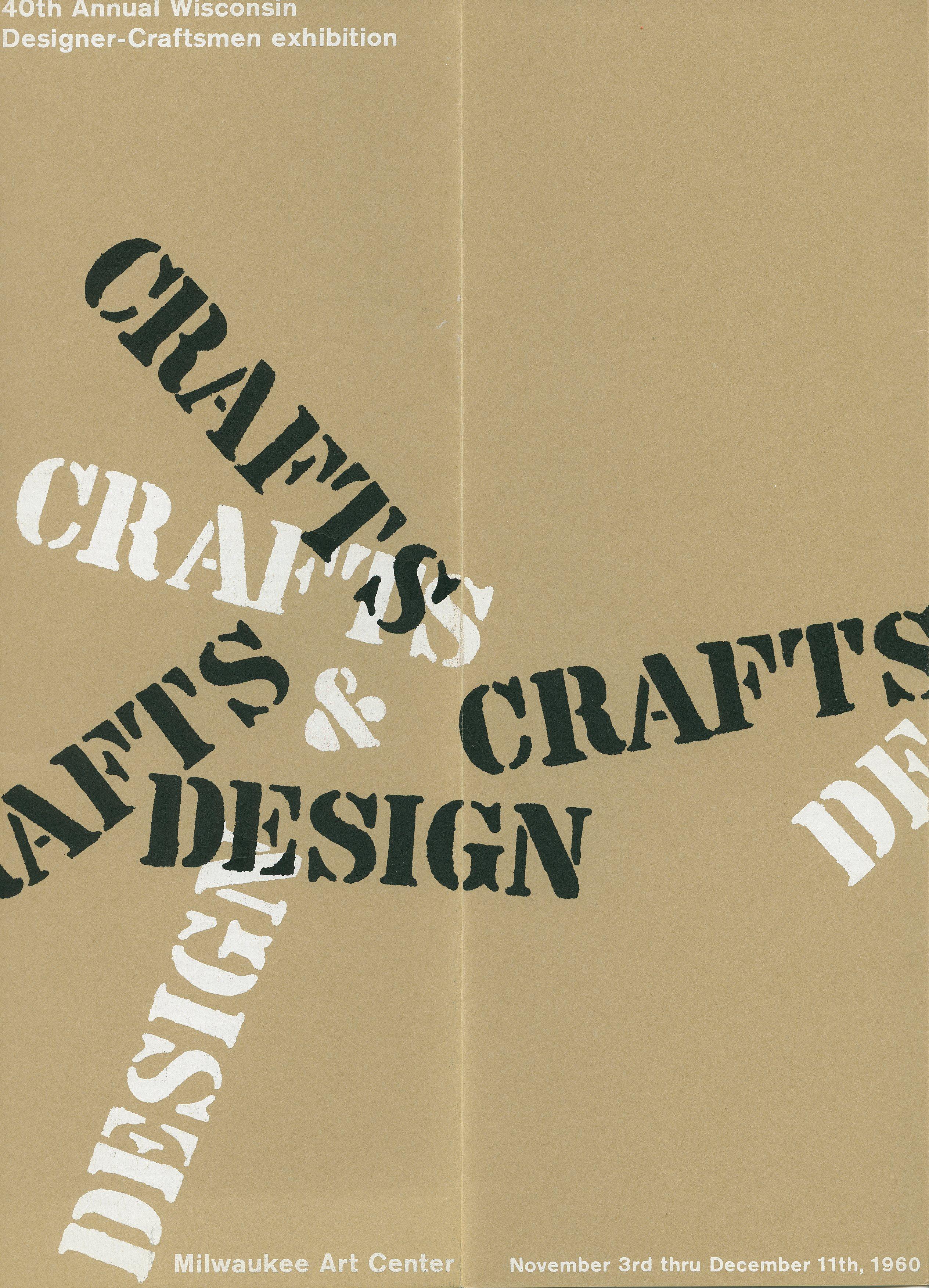 John J. Reiss, exhibition catalogue. 40th Wisconsin Designer Craftsman Exhibition, 1960
