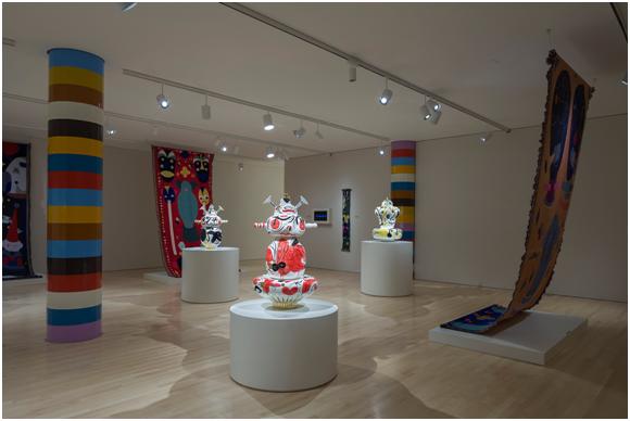 Installation view of Jaime Hayon: Technicolor, Milwaukee Art Museum, 2017. Photo by John R. Glembin.