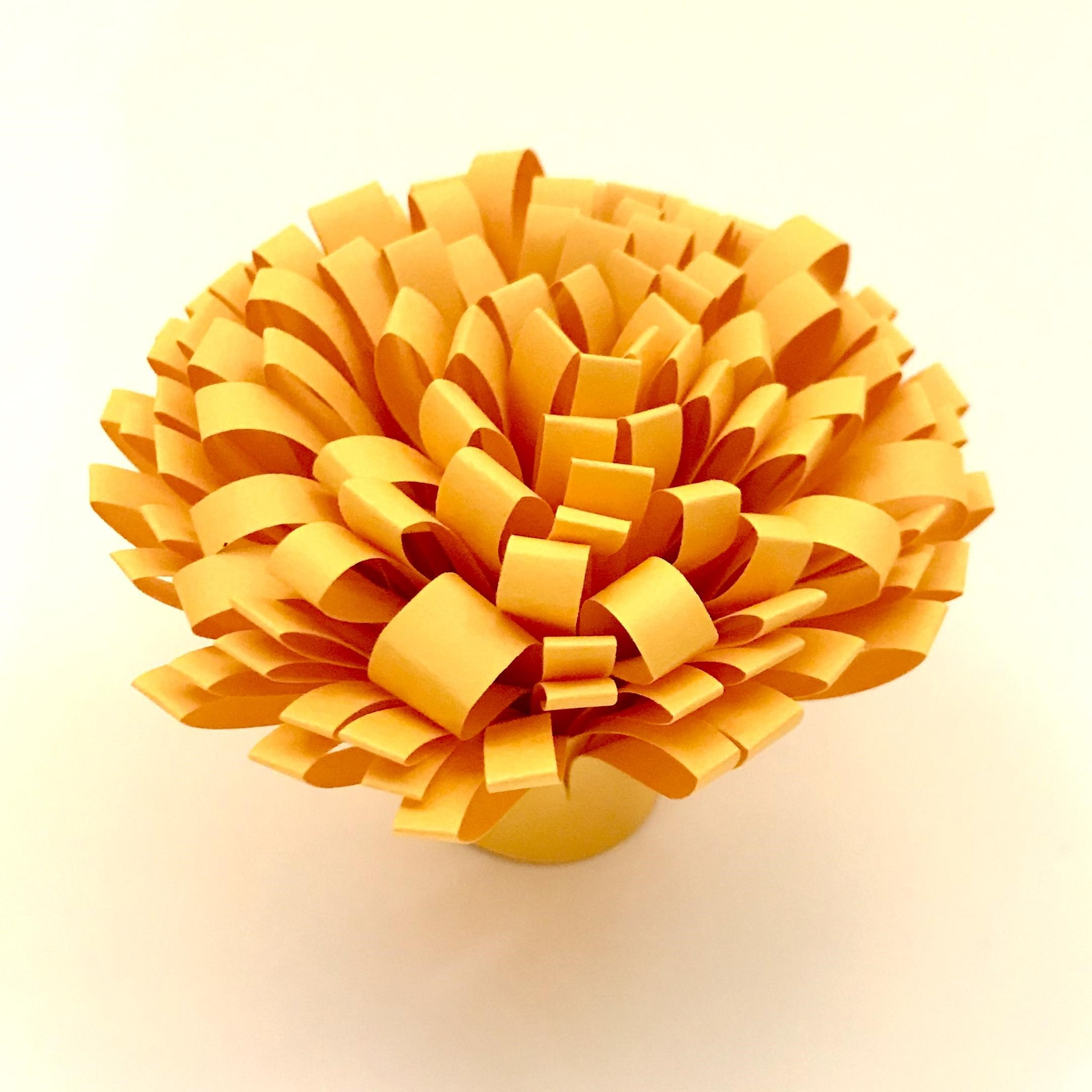 Yellow flower made of paper