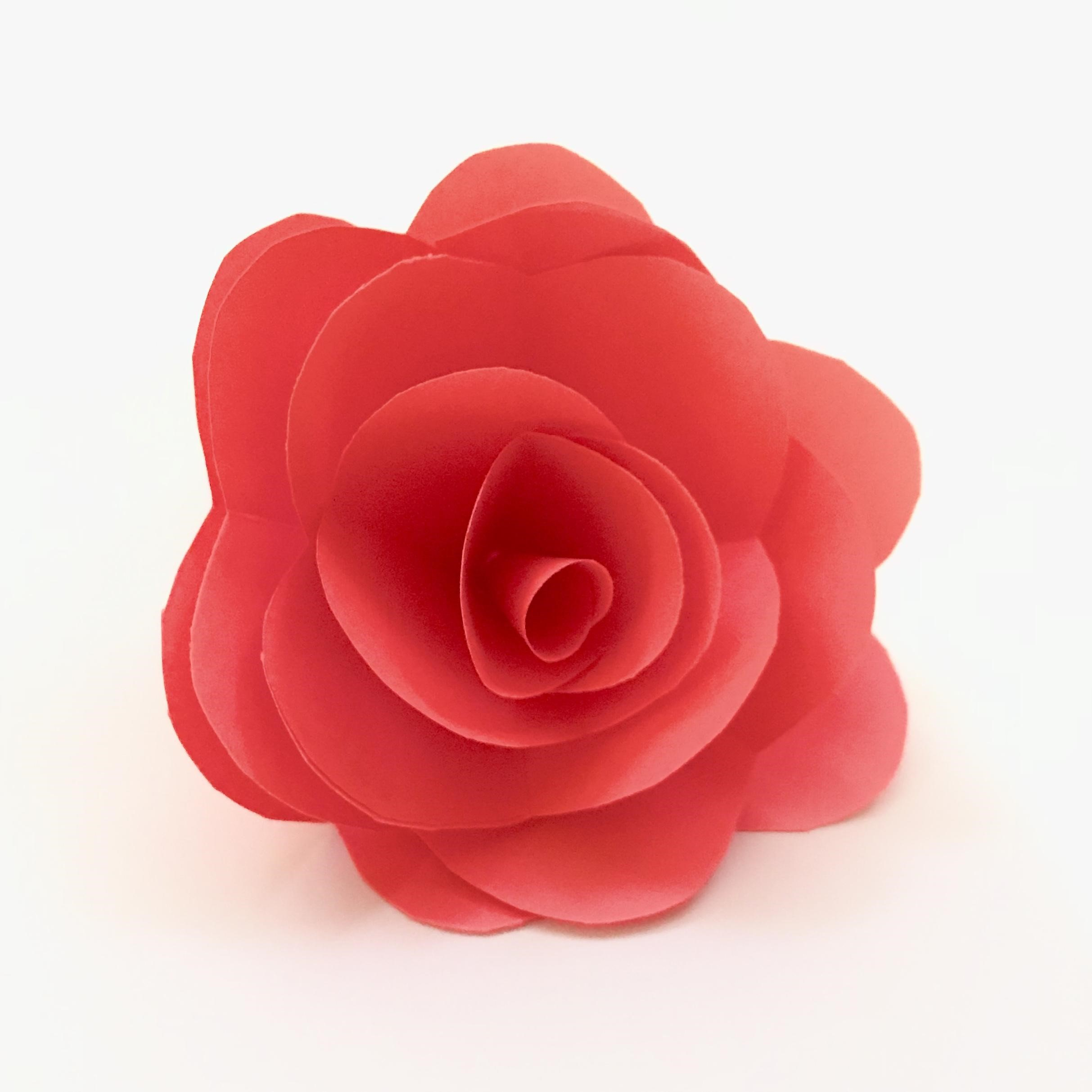 Red rose made out of paper