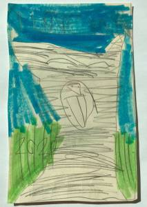 Child's replica of Sunny artwork